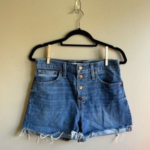 Madewell Women's Mom High-Rise Jean Shorts Size 28